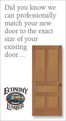 We can professionally match your new door to the exact size of your existing door