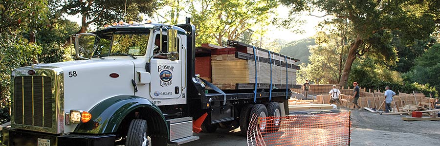 Lumber delivery to East Bay job site