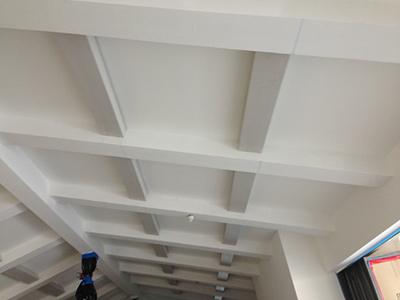 Installed box beams