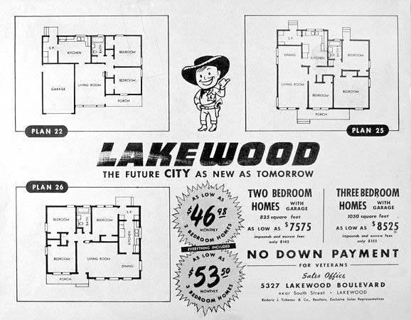 Lakewood tract homes floor plan