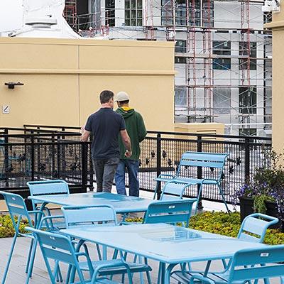 Upper roof deck tour