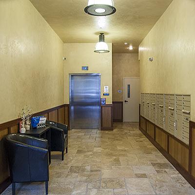 Lobby with custom trim