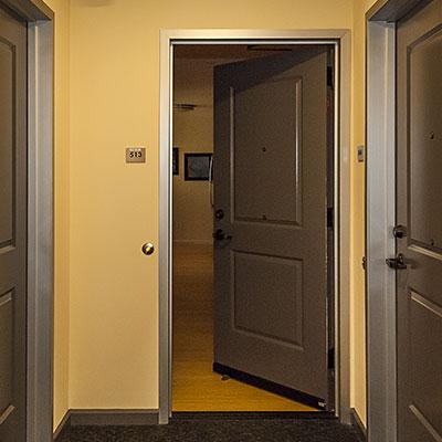 Interior doors and hallway