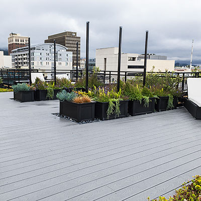 Large Trex roof deck