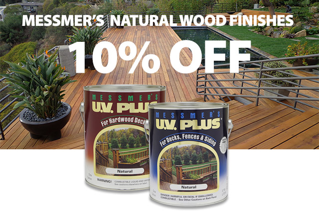 Messmer's UV Plus for Redwood or Cedar decks and UV Plus for Ipe, Mahogany and other hardwood decking