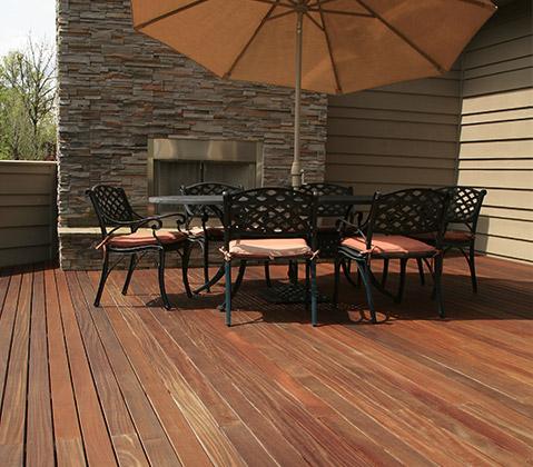 A beautiful Batu Hardwood deck