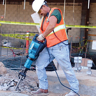 Makita HM1307CB 35 lb Demolition Hammer on the job site