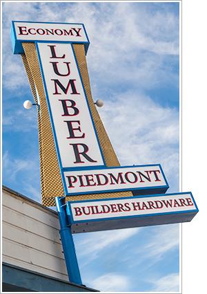 Economy Lumber Piedmont sign
